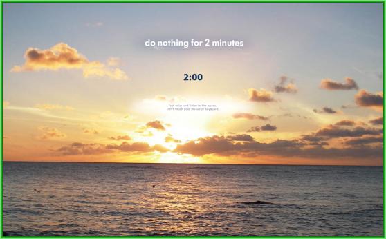 Donothingfor2minutes.com - необычный двухминутный ритуал