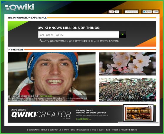 Qwiki.com - современная поисковая система